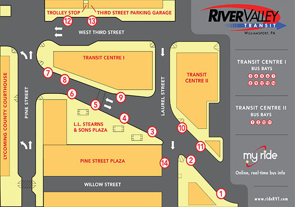 Bus Bay Map
